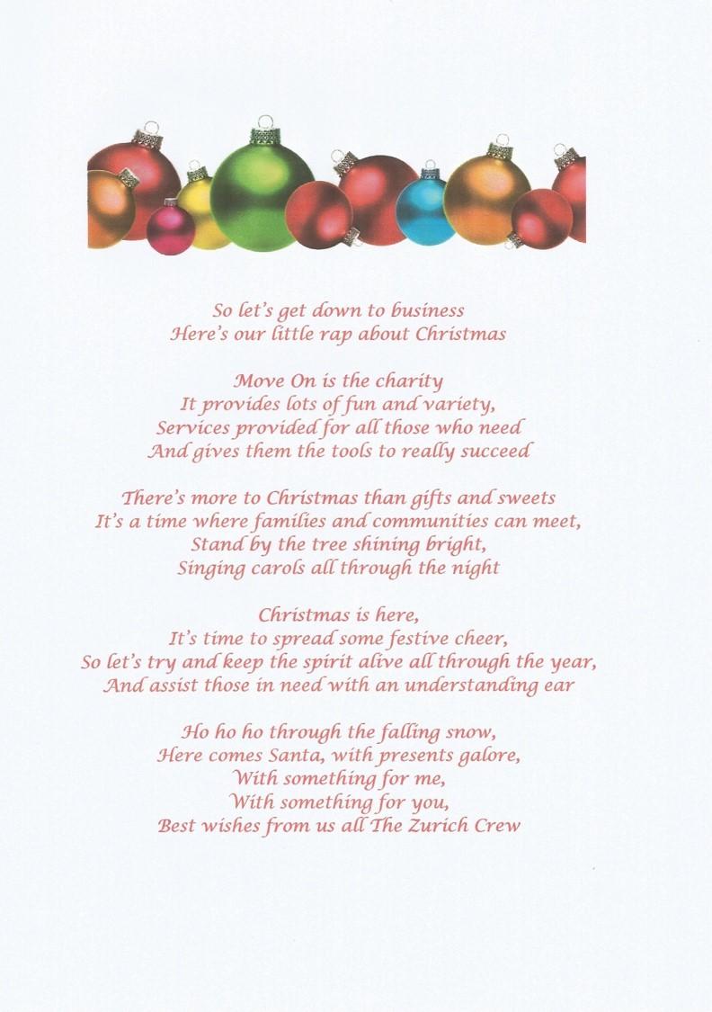 Zurich Insurance Christmas Rap