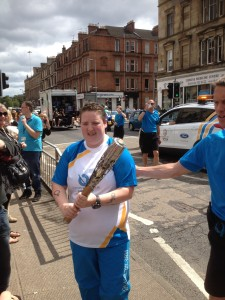 Charlene with Commonwealth baton