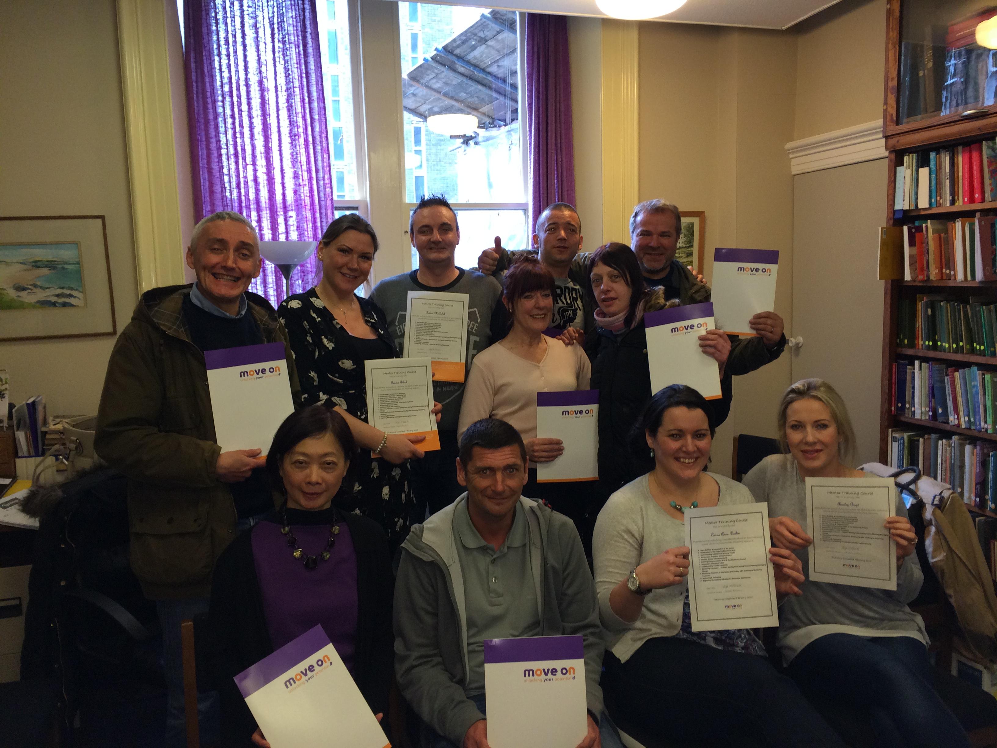 Glasgow mentors receive certificates
