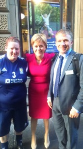 Reception for Scotland Homeless World Cup teams
